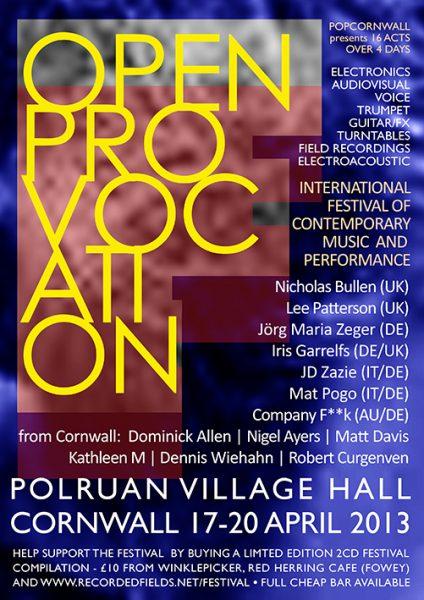 19 April 2013 – Company Fuck – Cornwall, UK – Open Provocation festival