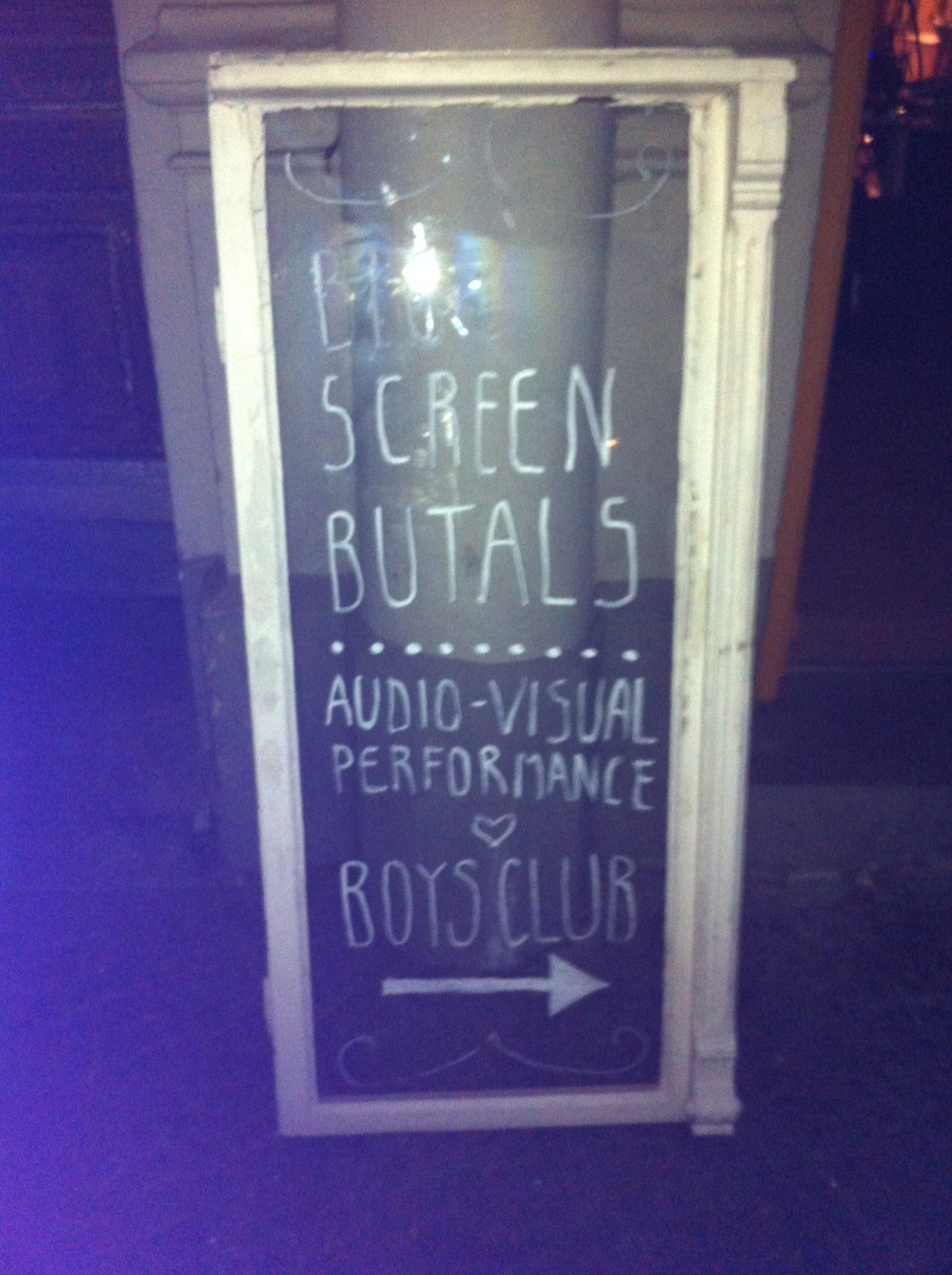 Big Screen Brutals – 5 September 2014 @ Boys Club – The Superusers, Kris Limbach, VJ Meat, Crocanti – 2014