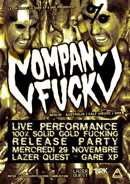29 October 2014 – Company Fuck, DJ Invisible Pink – Paris, France