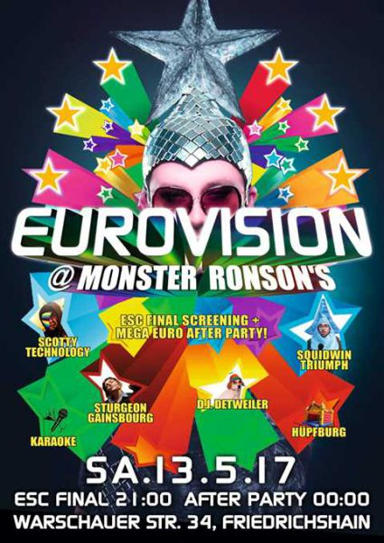 13 May 2017 – Eurovision! – Berlin, Germany