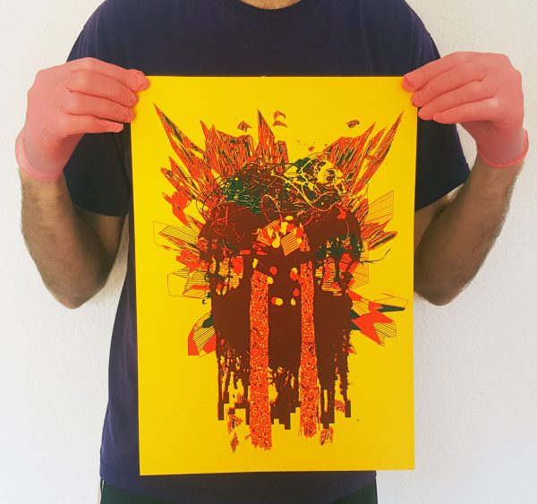 The Superusers – Triple Overburn – Poster (yellow)